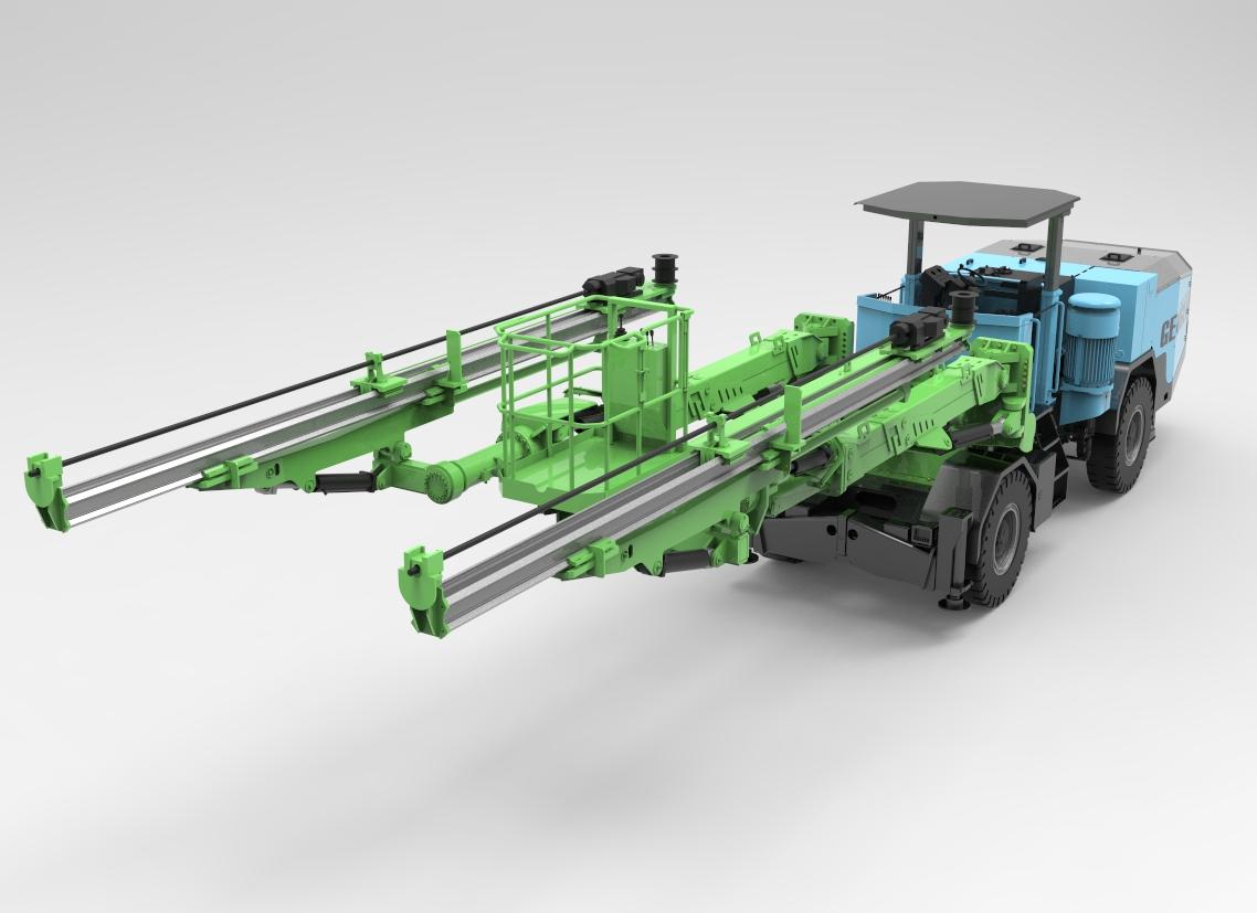 G2Z两臂掘进钻车正式下线 - 洛阳耿力机械